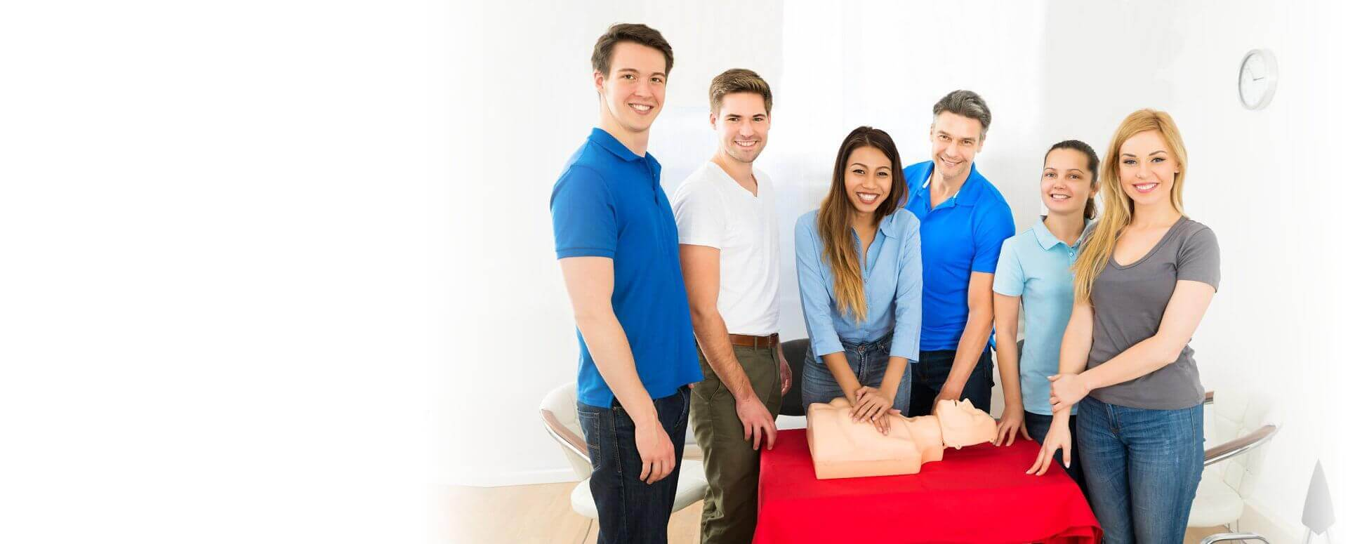 nurses doing cpr smiling